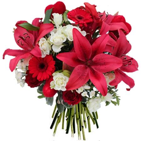 Fleurs saint valentin livraison du bouquet amour fou par floraclic - Saint valentin fleurs ...