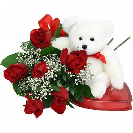 Livraison fleurs amour roses rouges avec ourson teddy for Livraison de fleurs demain