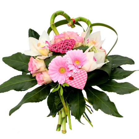 Livraison fleurs bouquet de fleurs amour ana s par - Bouquet de rose saint valentin ...