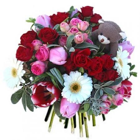 Fleurs amour livraison du bouquet sweet love floraclic for Bouquet st valentin pas cher