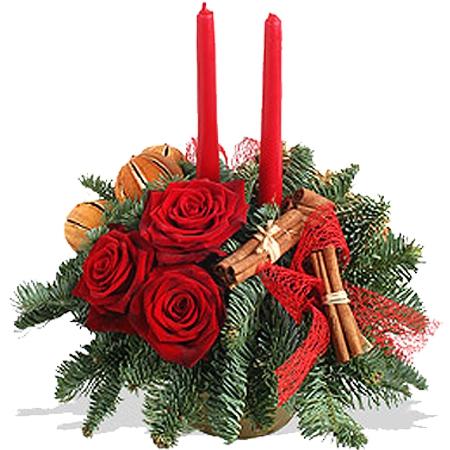 livraison fleurs de no l composition de no l rouge. Black Bedroom Furniture Sets. Home Design Ideas