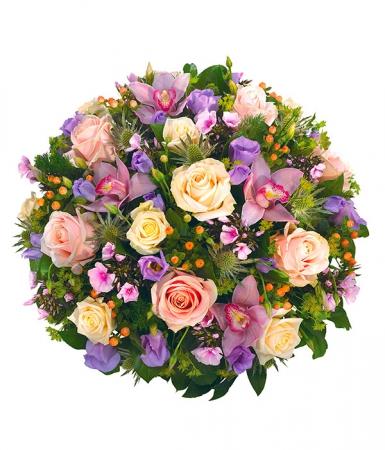 livraison fleurs deuil coussin obs ques rose et blanc. Black Bedroom Furniture Sets. Home Design Ideas
