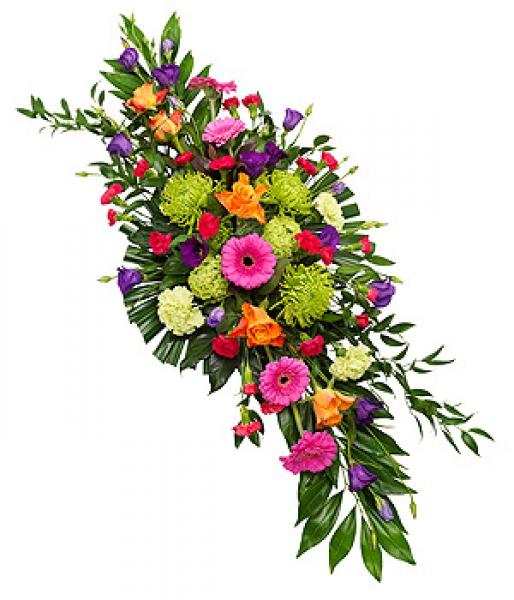 livraison fleurs deuil dessus de cercueil multicolore par floraclic. Black Bedroom Furniture Sets. Home Design Ideas