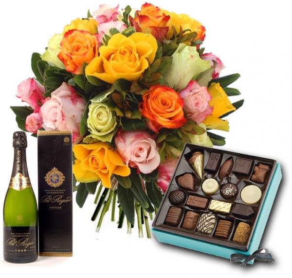 Fleurs et chocolats livraison fleurs champagne et for Bouquet de fleurs 80 ans