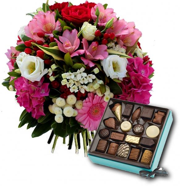 Livraison fleurs et chocolat bouquet de fleurs elyse et for Bouquet de fleurs livraison