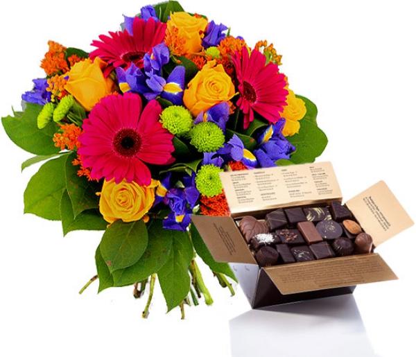 Livraison fleurs et chocolat bouquet de fleurs et for Bouquet de fleurs lumineux
