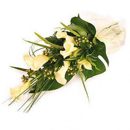 Fleurs deuil livraison de gerbe de fleurs blanches pour for Bouquet de fleurs vertes