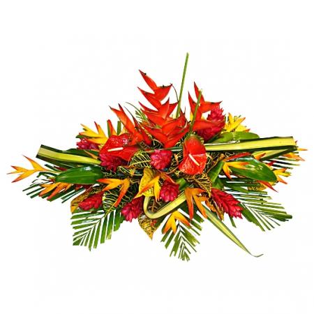 fleurs deuil livraison de gerbe deuil de fleurs exotiques pour d c s. Black Bedroom Furniture Sets. Home Design Ideas